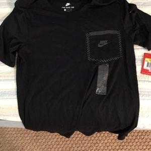 Nike black T with pocket